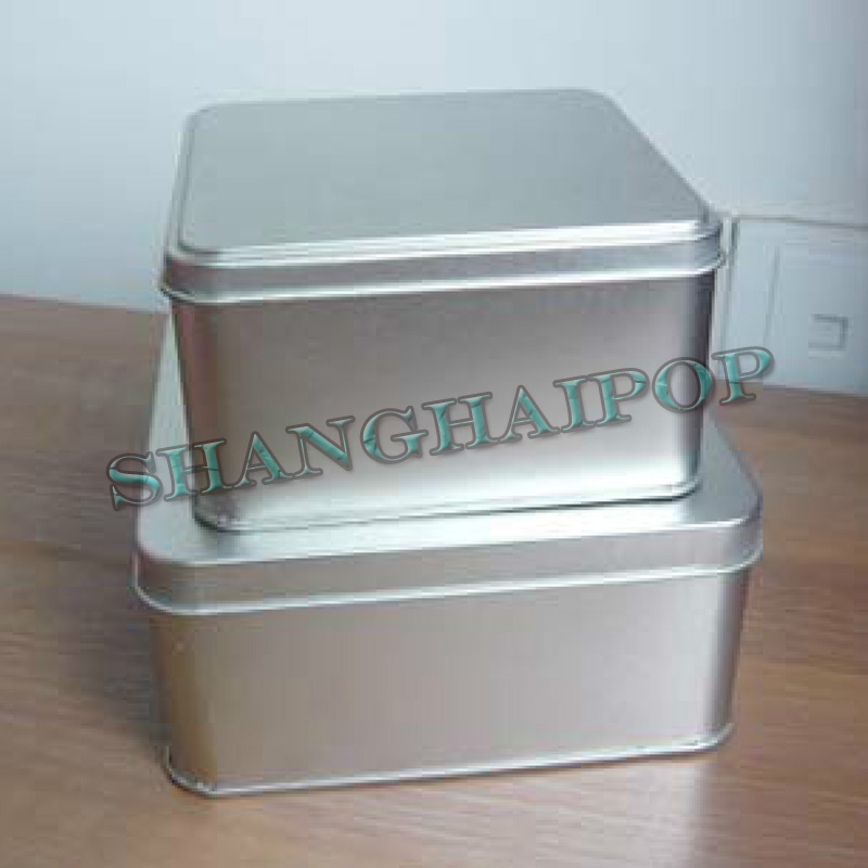 Small metal storage container box case square cosmetic for Small tin containers