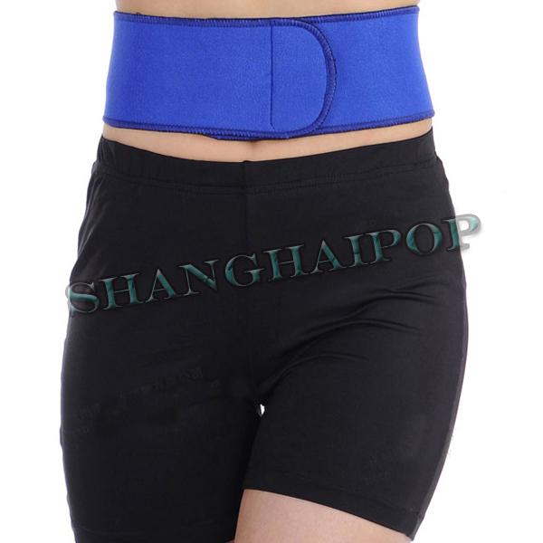 Lumbar-Lower-Back-Support-Belt-Waist-Brace-Sport-Kidney-Injury-Pain-Relief-Black