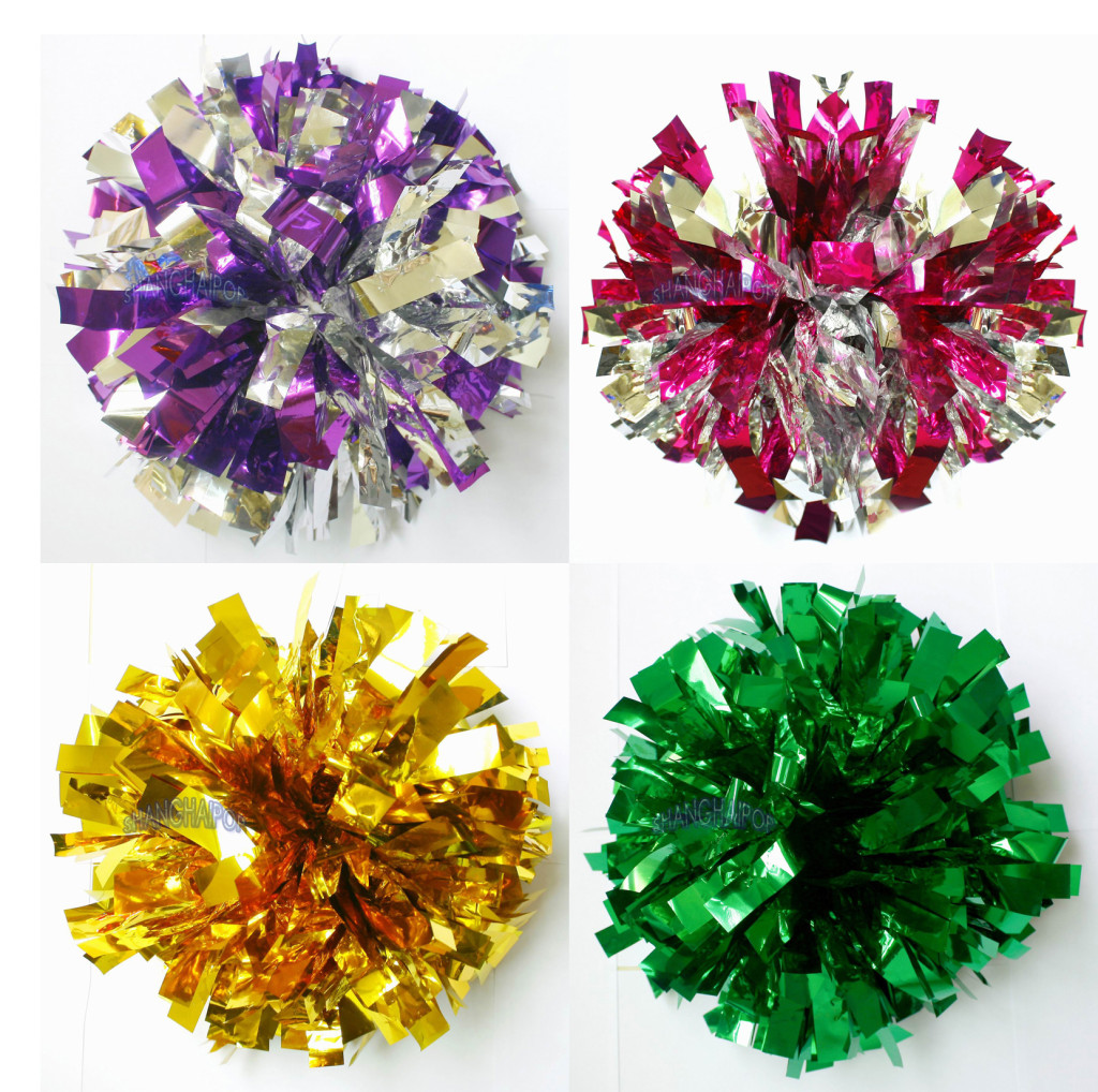 how to make metallic cheerleading pom poms