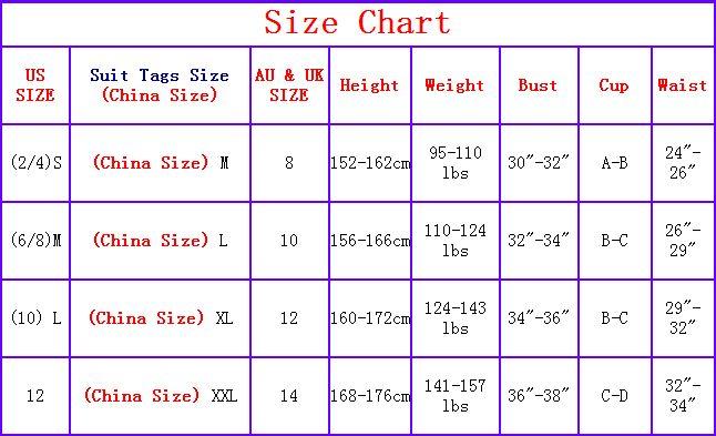 Chinese Sizes Chart Keninamas