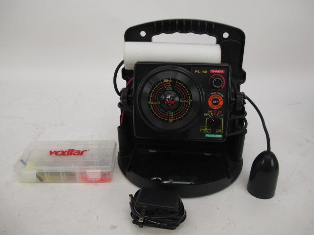 Vexilar fl 12 pro pack ii fish depth finder ice fishing for Ice fishing flasher