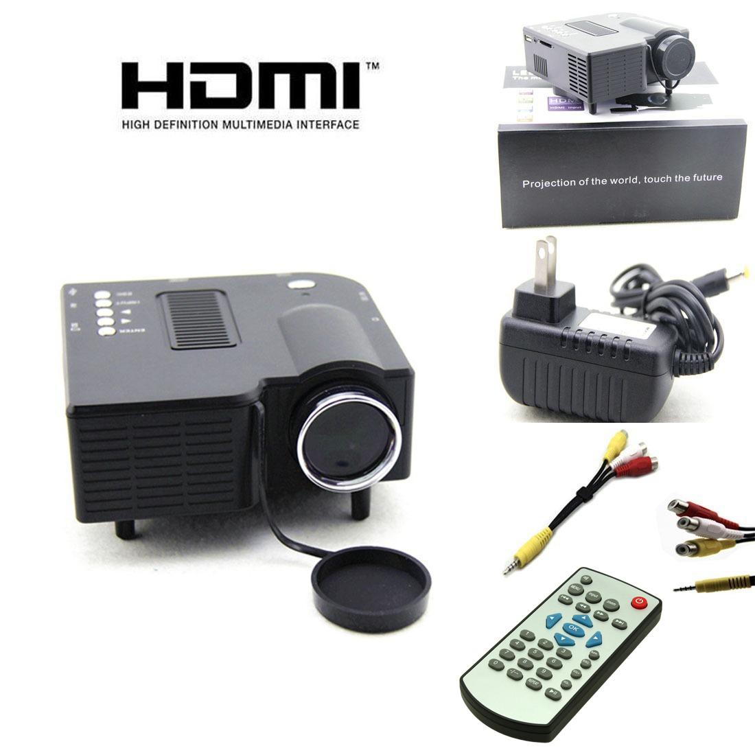 New uc28 pro hdmi portable mini led projector home cinema for Mini usb projector