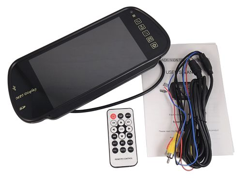 "7"" TFT LCD Color Car Rearview Mirror Monitor MP5 SD USB FM Touch Key"