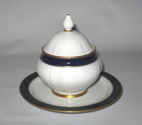 eschenbach bavaria echt kobalt sugar lid plate germany ebay. Black Bedroom Furniture Sets. Home Design Ideas