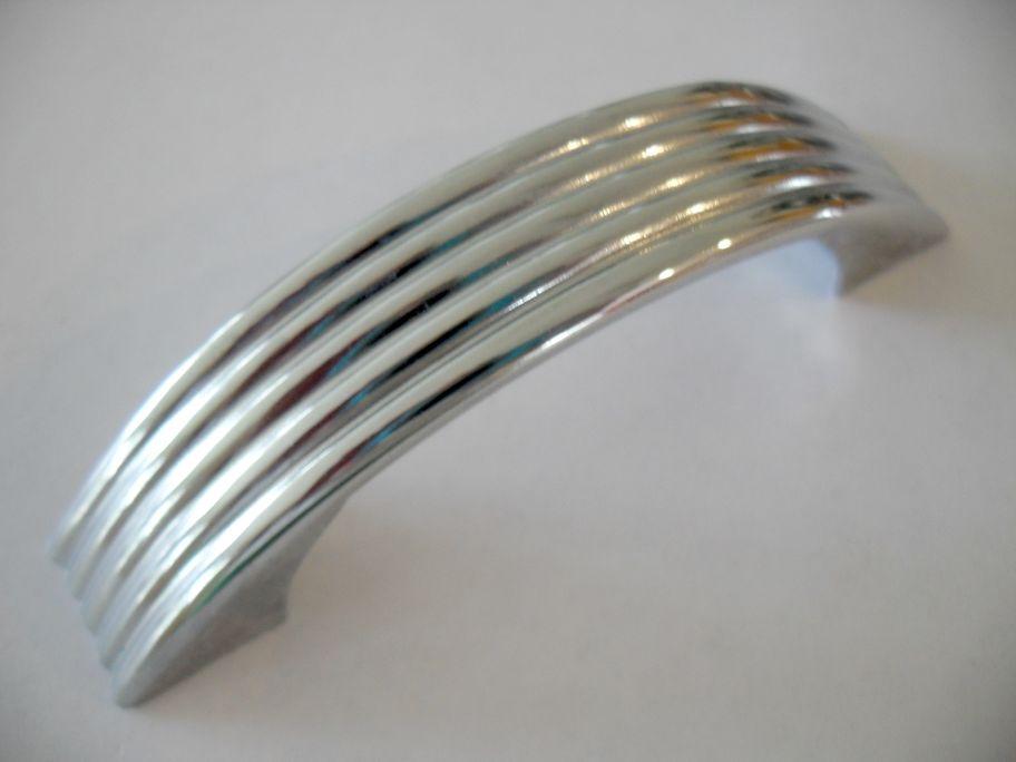 ... Handles Cabinet S Pulls Vintage Cupboard Door Door 50 Drawer Chrome  Ribbed EBay Lines Pulls 039 ...
