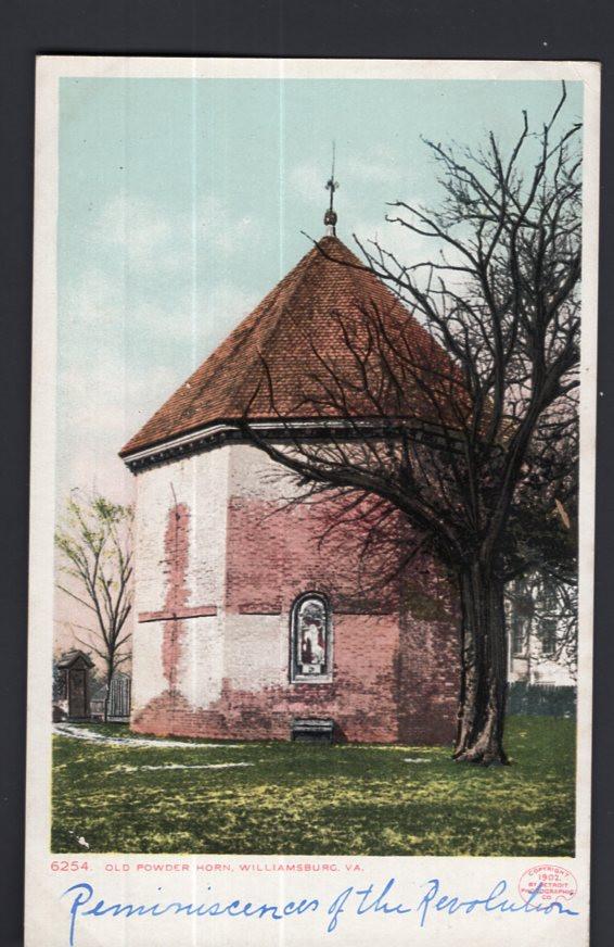 VA Virginia ~ Old Powder Horn WILLIAMSBURG - Und/B Detroit Photographic Co. 1909