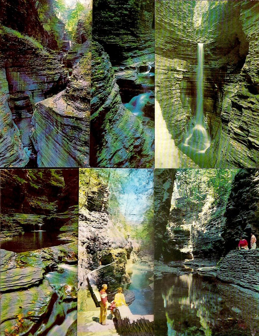 (6) NY New York ~ Watkins Glen State Park - Chrome 1950s-1970s