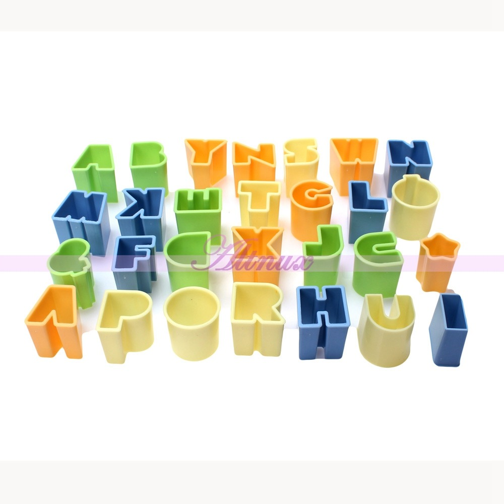 Details about Fondant Cake 3D Letter Alphabet Cookie Sugarcraft Cutter ...