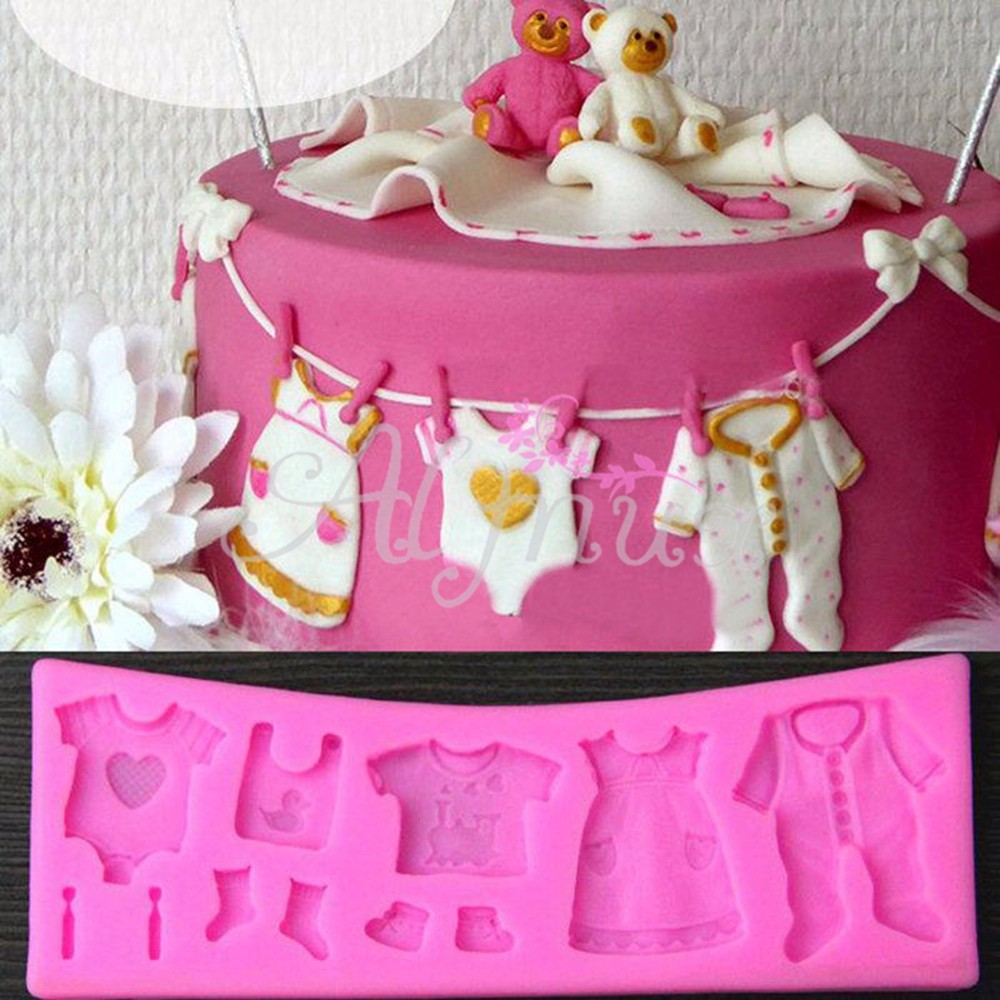 3D Baby Shower Silicone Mold Fondant Mould Cake Decorating ...