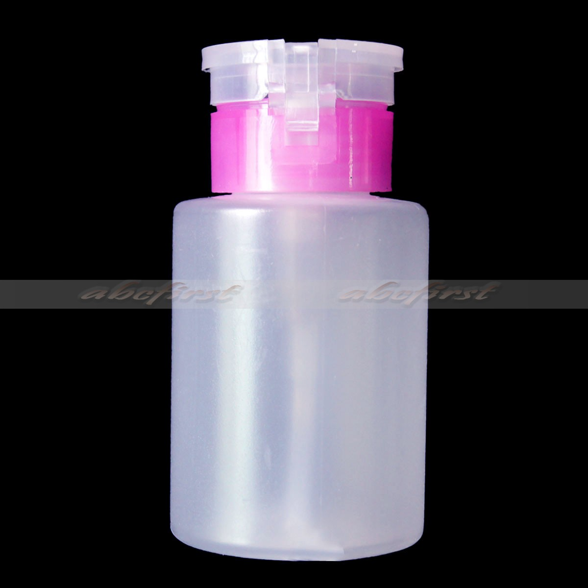 Pink Nail Art Empty Bottle Pump Dispenser Polish For Remover UV Gel ...
