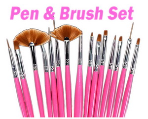 Nail Art Pen & Brush