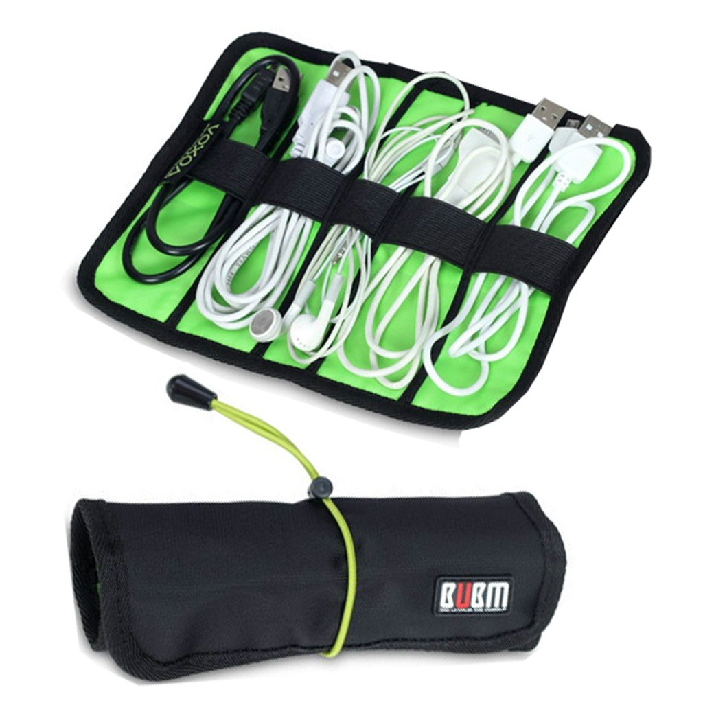 Computer Cable Rolls : Cable organizer bag mini size portable can put usb cables