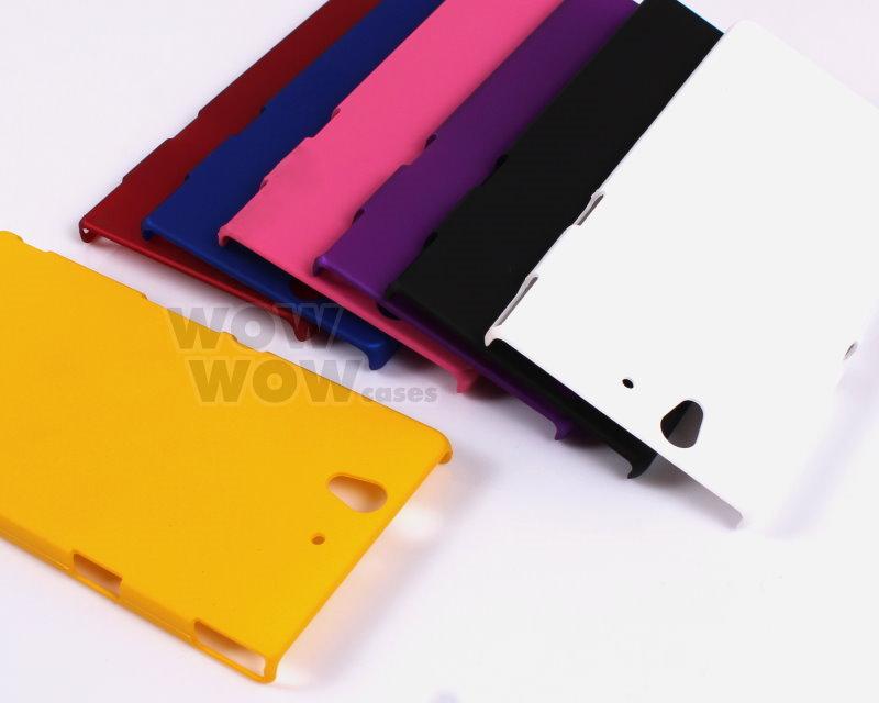 Xperia L Black Case Black Matte Hard Back Case