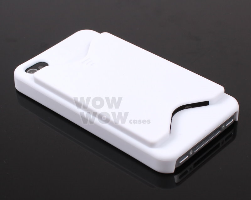 White ID Business Credit Card Holder Case Back Cover for