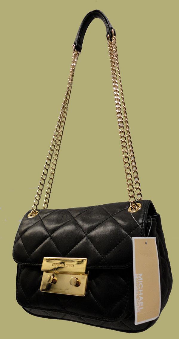 Michael Kors Small Sloan Quilted Shoulder Bag Black 25