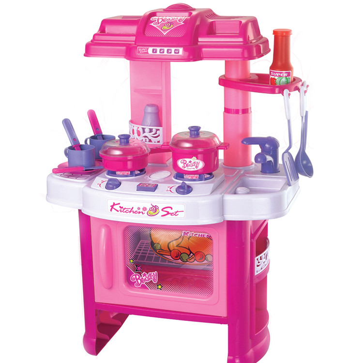 Electornic toy cooker set game children kids kitchen diy for Kitchen set wala game