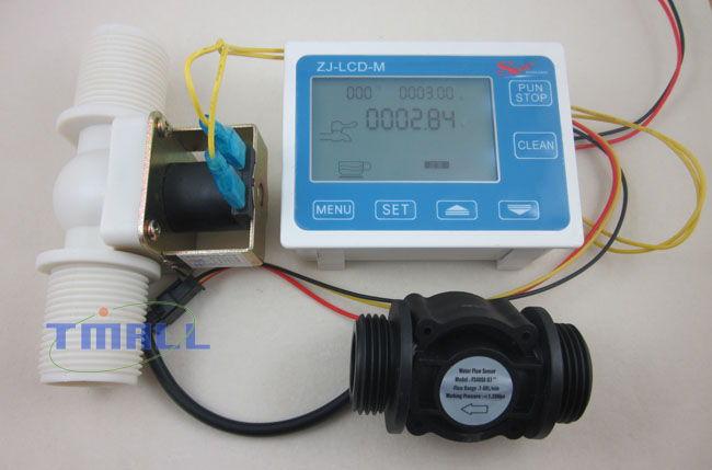 Water Flow Controller ~ G quot water flow control lcd display sensor meter