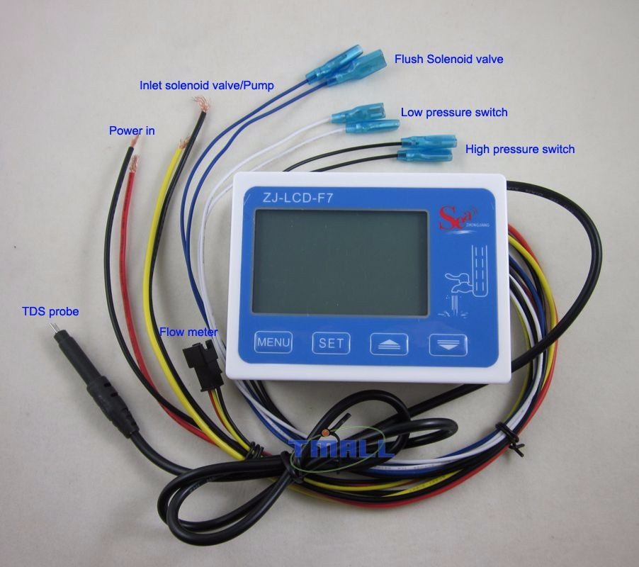 RO Water Filter LCD Display Control TDS water quality Life