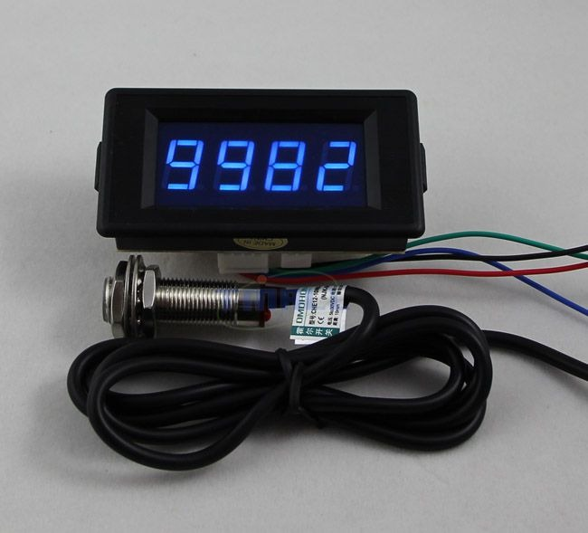 Digital Counters With Sensors : Dc v digital blue led counter meter up down hall