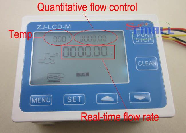 Water Flow Controller ~ Digital lcd water flow sensor display meter gauge
