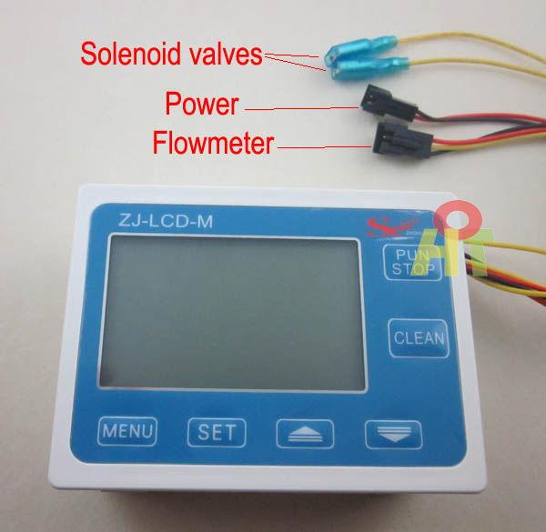Water Flow Controller ~ Quot digital lcd water liquid flow meter gauge quantitative