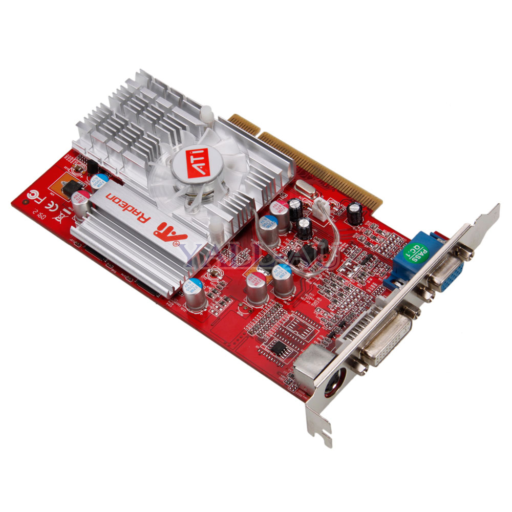 High-Quality-DDR-PCI-Graphics-Card-64MB-256MB-VGA-S-Video-DVI-Radeon-9000
