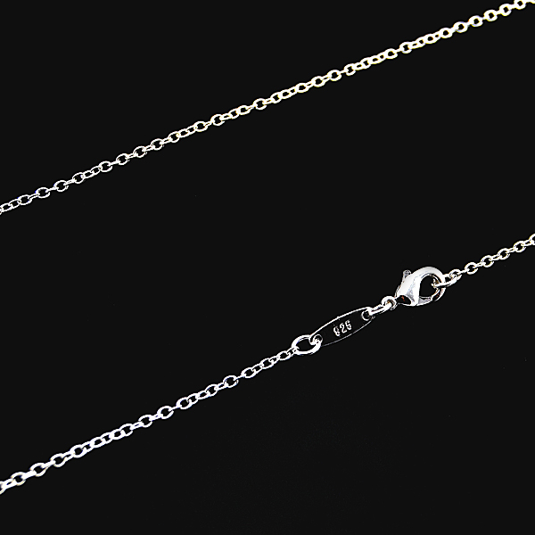 1-pcs-Silver-Plated-O-Link-Chain-Lady-Necklace-1mm-16-034-18-034-20-034-22-034-24-034