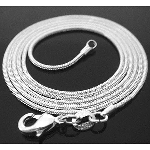 1-pcs-Silver-Plated-Snake-Chain-Lady-Necklace-1mm-16-18-20-22-24
