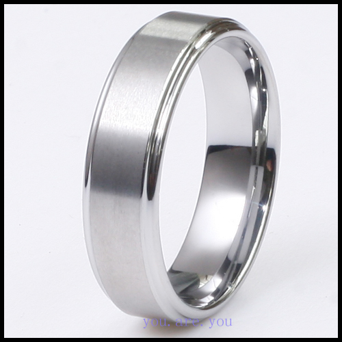 7MM-Tungsten-Ring-Men-Wedding-Band-Brushed-Center-Hot-Bridal-Jewelry-W-Gift-Box