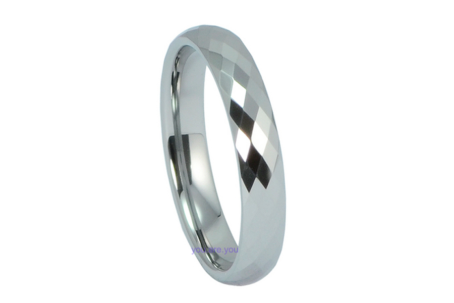 4MM-Mens-Lady-Tungsten-Carbide-Silver-Ring-Wedding-Band-Multi-Face-SZ-5-12