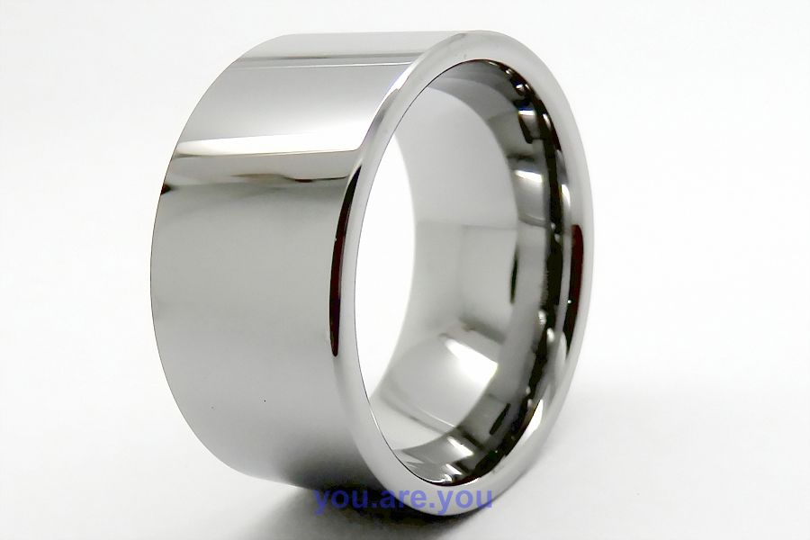 12mm pipe width polished tungsten ring mens wedding band