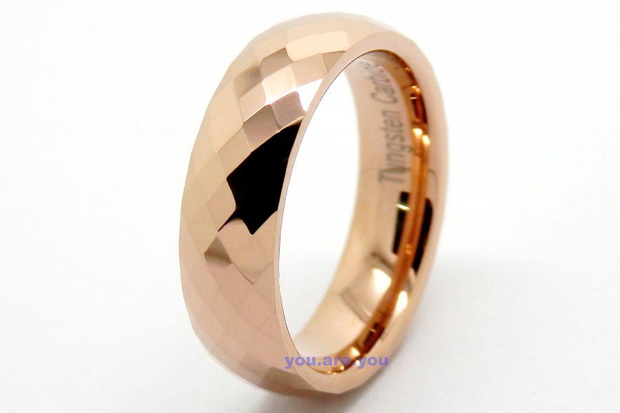 -RING-ROSE-GOLD-WEDDING- Mens Rose Gold Wedding Ring