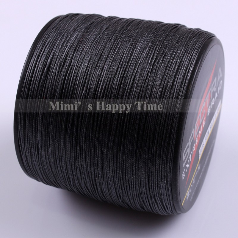 8 strands 100m 300m 500m 1000m black spectra 100 pe for Black braided fishing line