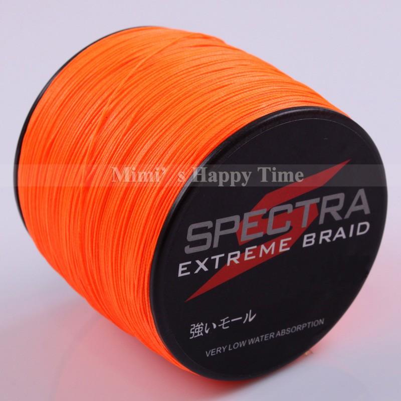 8 strands spectra dyneema braid fishing line 100 pe 100m for Orange fishing line