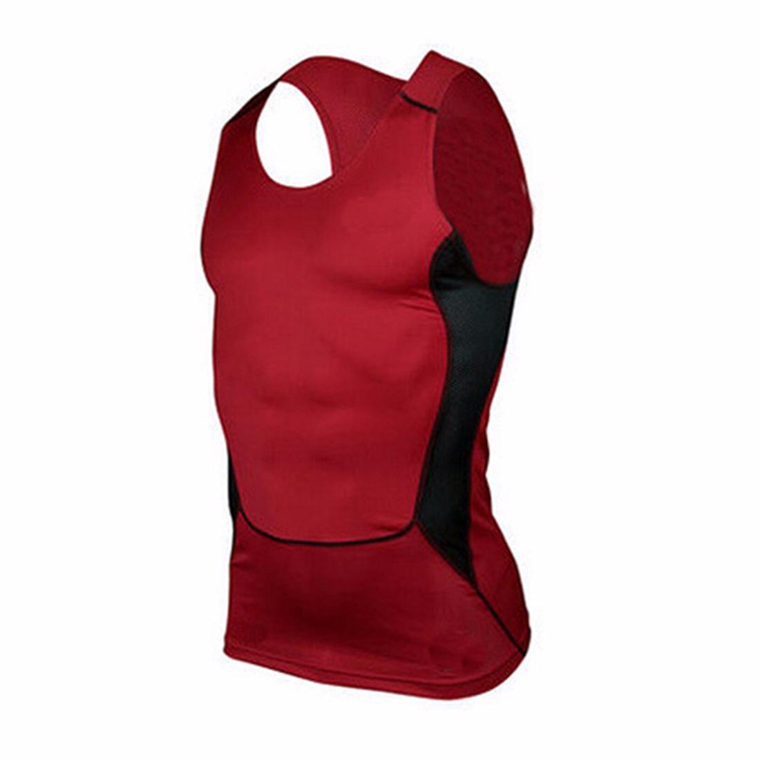 Men New Sport Basketball Sleeveless Slim-Fit Vest Wicking Drying Shirts Tees