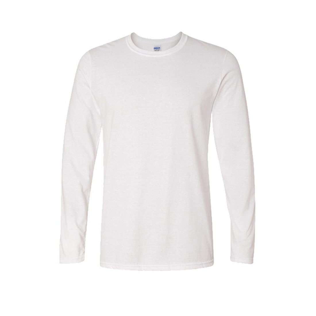 Basic Fashion Cool Solid White Cotton Mens Long Sleeve