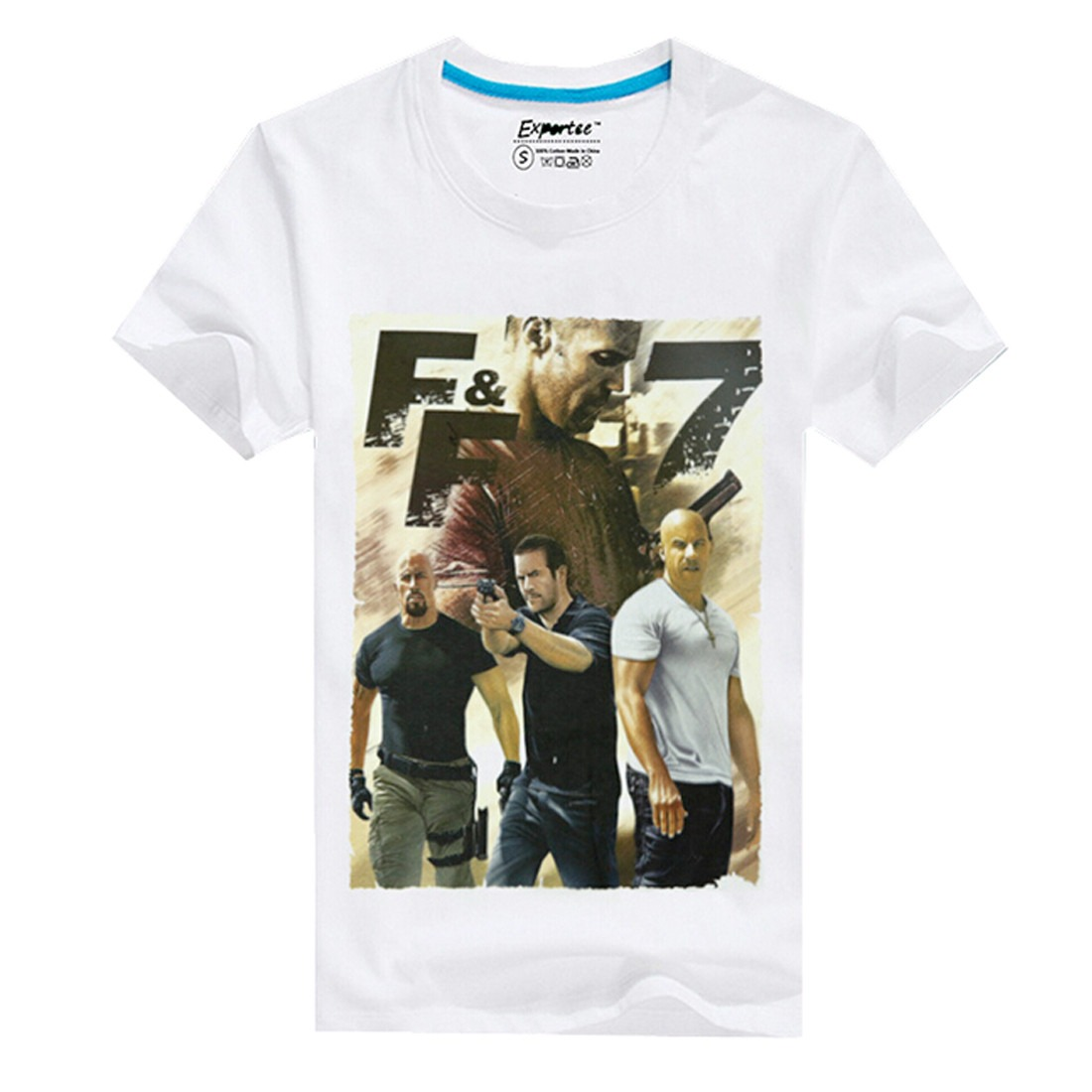 New Fast & Furious 7 Printed Summer Casual Men Short Sleeve T-Shirts Tees Tops