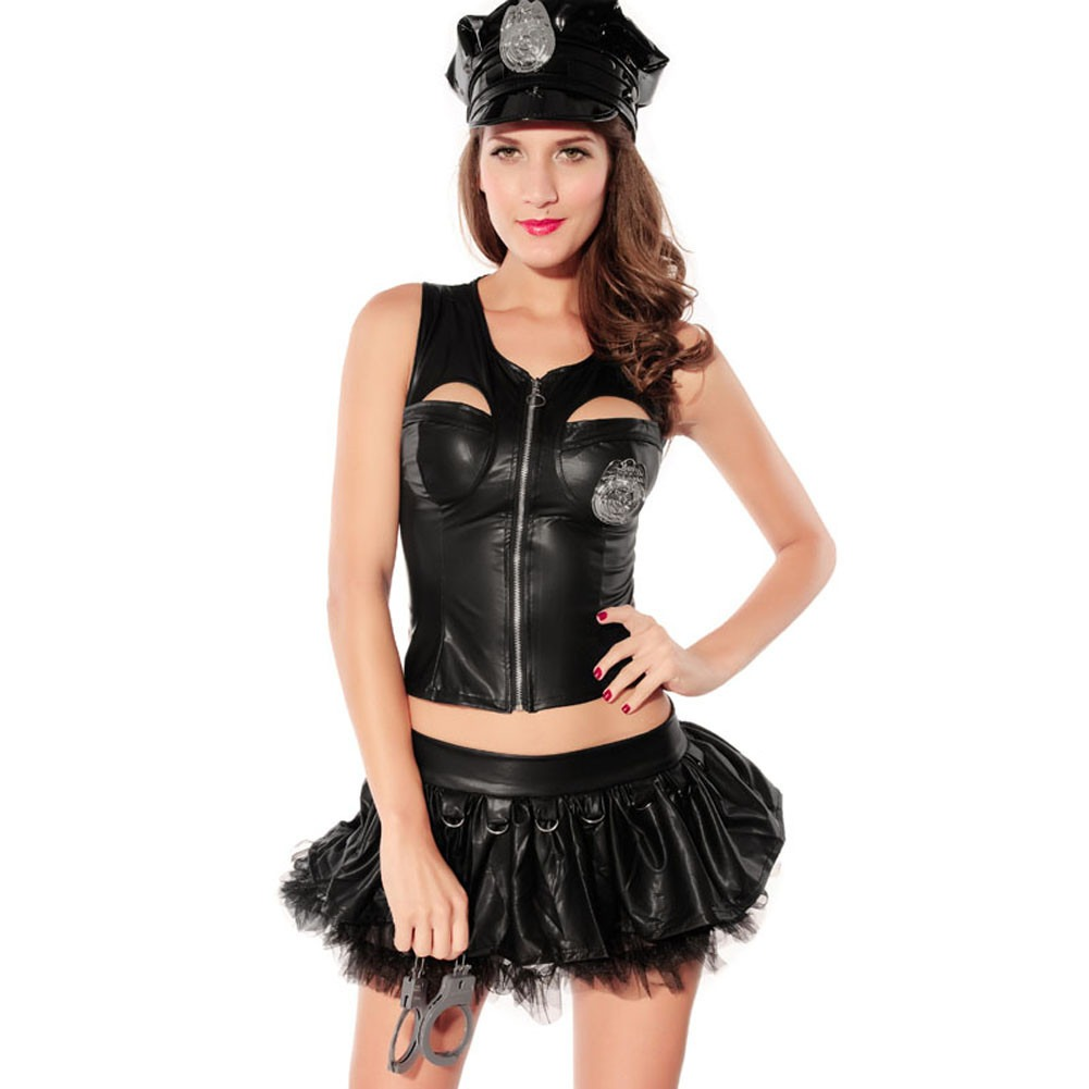 adult naughty police officer bedroom costume cop lingerie handcuff