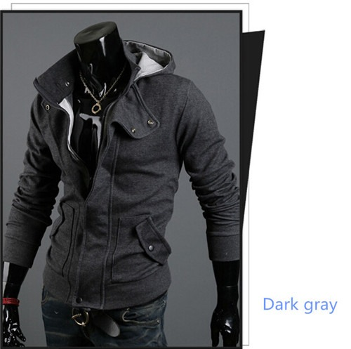 New Cool fashion slim fit handsome mens long sleeve sweater jacket hoodies coats