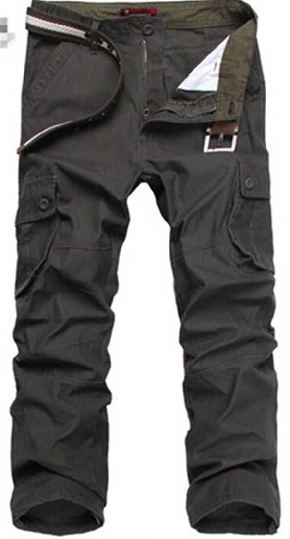 Cotton MENS casual military ARMY camo combat work pants TROUSERS army green