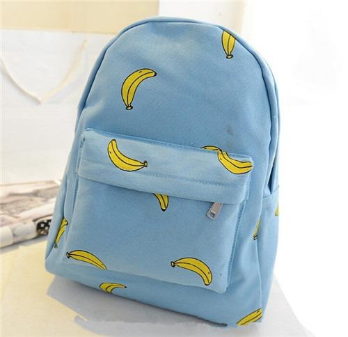 Cute Sweet Patterns Blue Canvas satchel NEW Shoulder Bag Rucksack Backpack