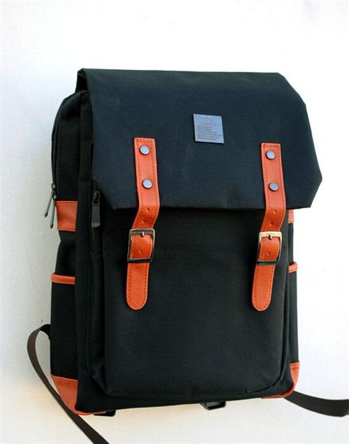 Korea PU canvas fashion School Student Book Shoulder bag backpack rucksack