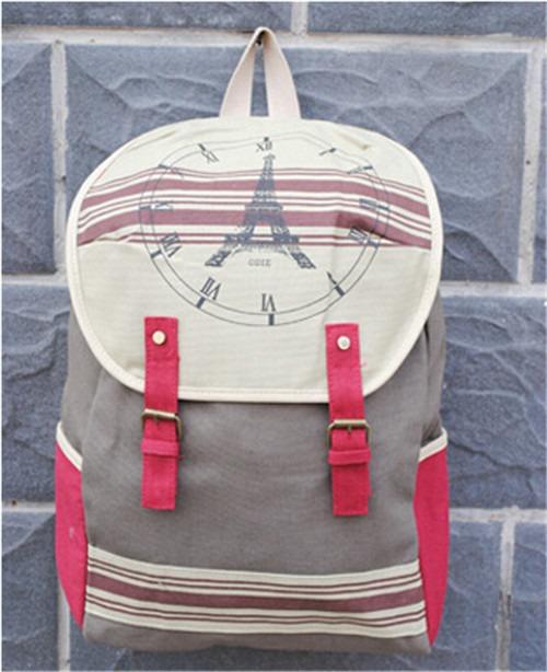 TRENDY Unisex School Cartoon Dot Heart Canvas Shoulder Bag Backpack Rucksack