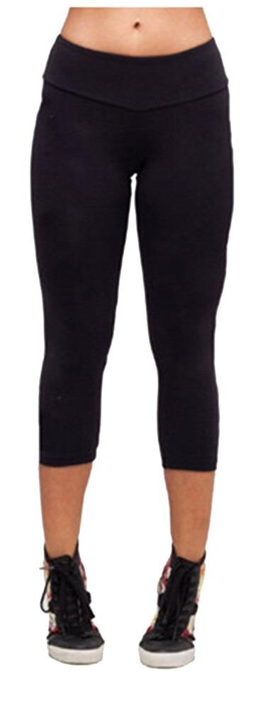 Sports Yoga Stretch Short Leggings Under Knee Skinny Spandex Pants S-XL