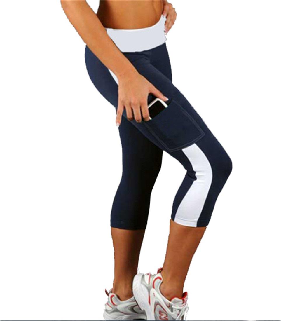 Women Athletic Workout Fitness Yoga Waistband leggings  Pants 4 size fashion