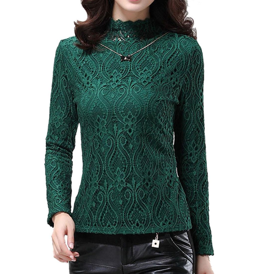Womens Autumn/Winter Thicken Warm Base Shirt Slim High ...