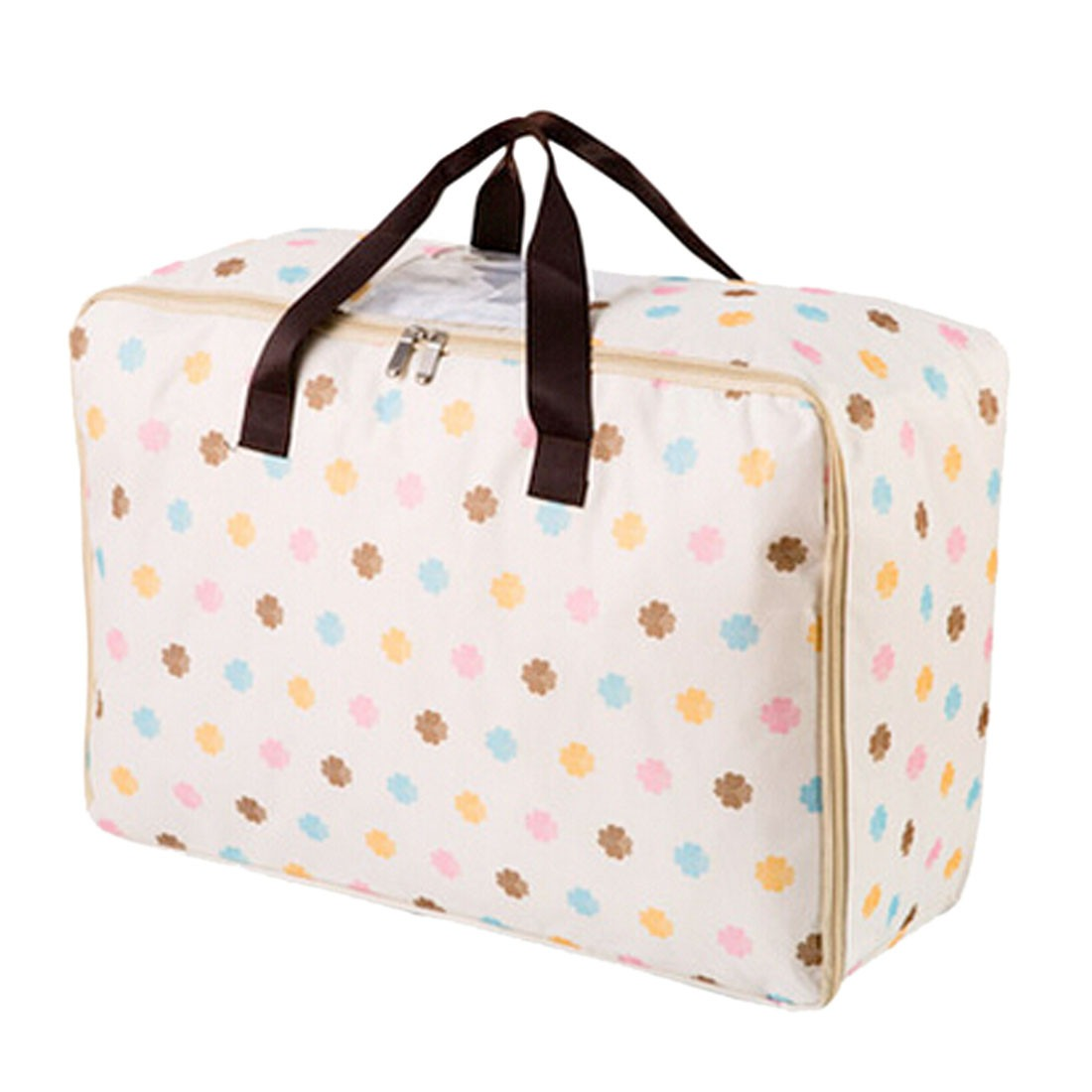 Clothing Quilt Organizer Container Bag Tote Window Printed Storage Boxes