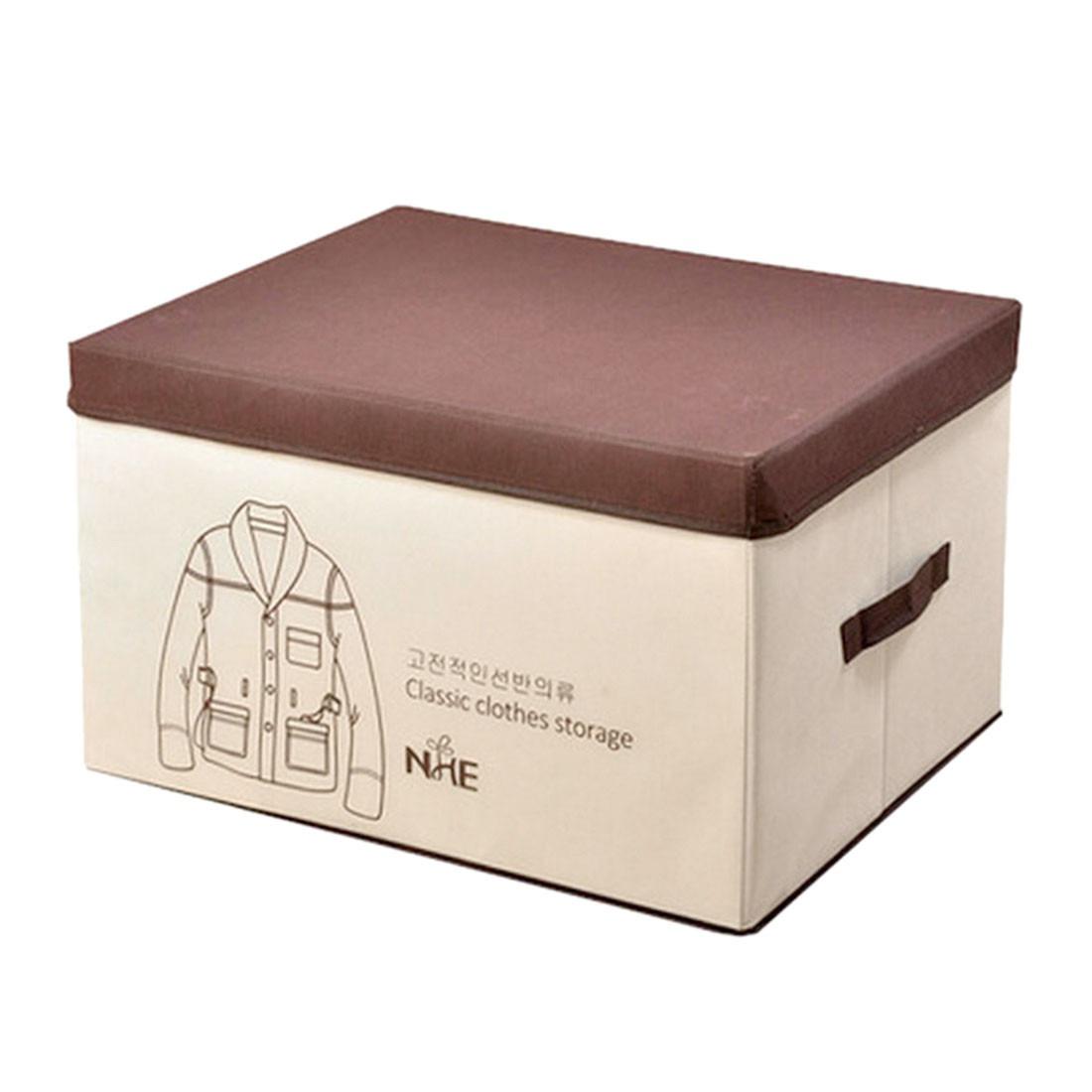 Classic Clothes Storage Box Lids Tote Organization