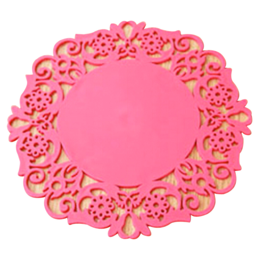 Dining table mats - Colorful Home Cute Silicone Rose Flower Dining Table