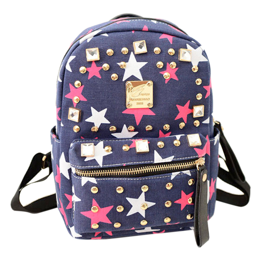 Hot Women Demin Rhinestone Satchel Backpack Girl Back To School Bookbag Handbag